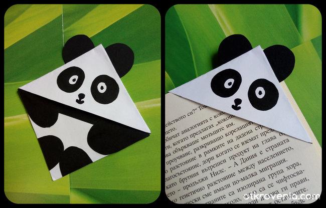 Книгоразделител панда