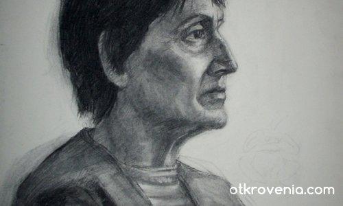 Портрет-въглен