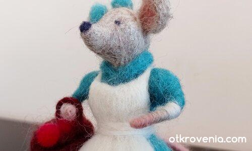 Мишка от вълна
