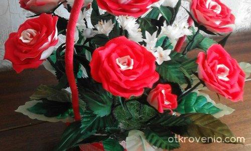 """Декорация """"Кошничка с рози"""""""