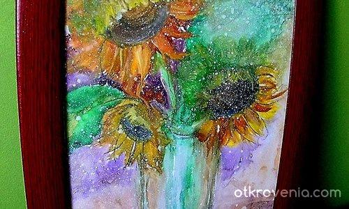 Слънчогледи в чаша