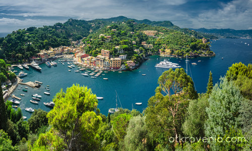 Portofino - поглед от Castello Brown
