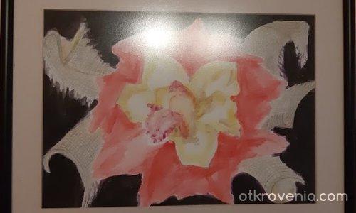 Букет с орхидея