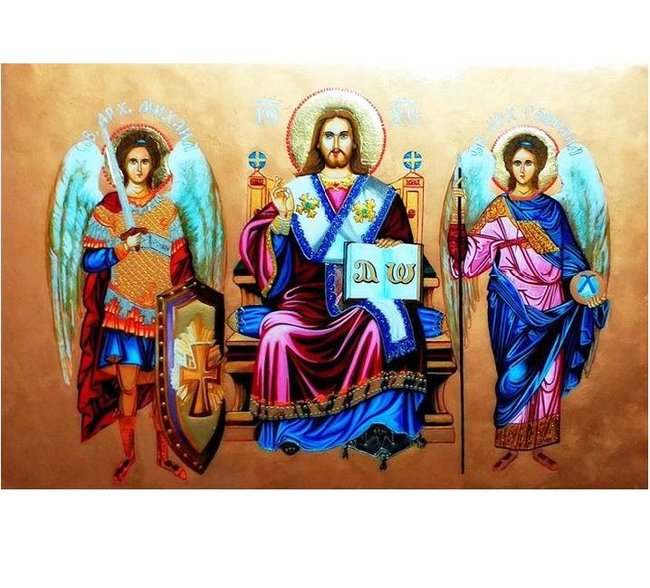 Иисус Христос Велик Архиерей с арханхангели