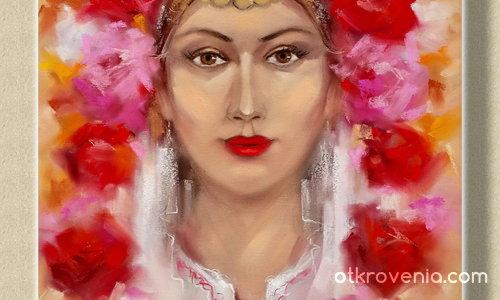 Момиче с рози