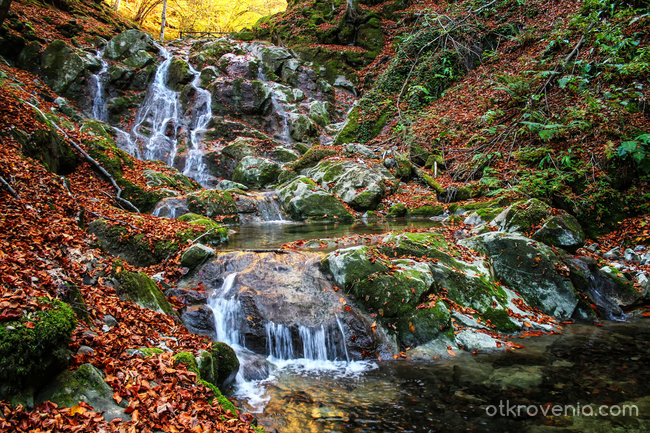 При водопада :)