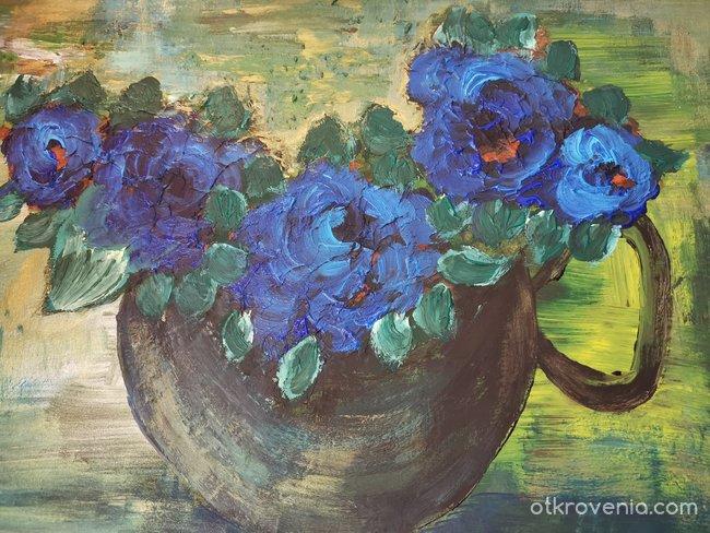 Чаша с цветове