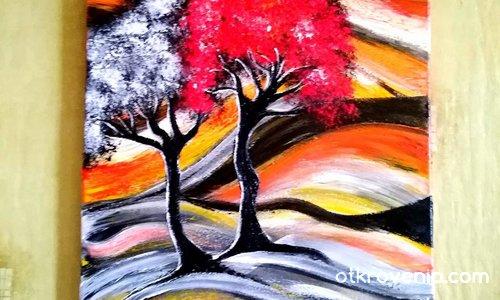 """""""Хармония"""". Платно рисувано с акрилни бои - 40 /40"""