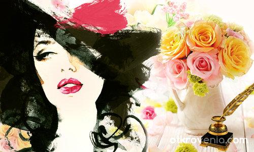 Рисувано лице с рози