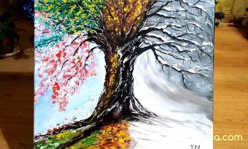 Сезоните на живота. Платно рисувано с акрил -40/40