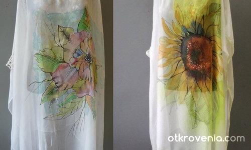 Листенца и цветенца всякакви - коприна