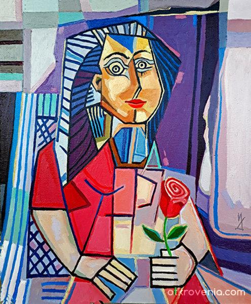 Жената с розата