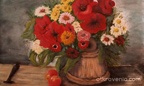 Цветя във ведро