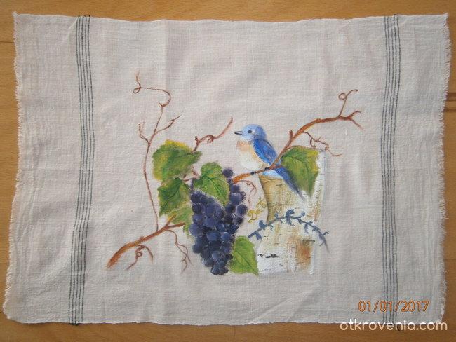 Ръчно рисуван кенар-акрил