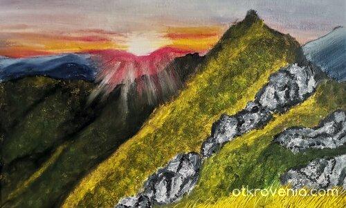 Залез в планината