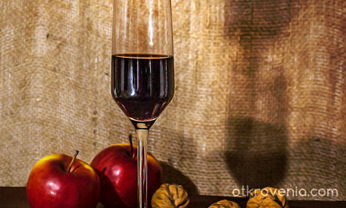 Етюд с чаша вино