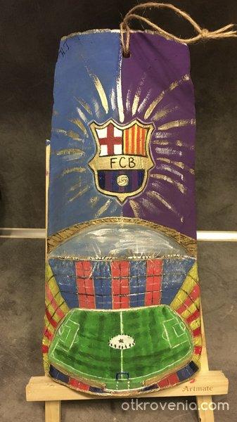 """ФК ,,Барселона"""" върху 100 годишна керемида"""
