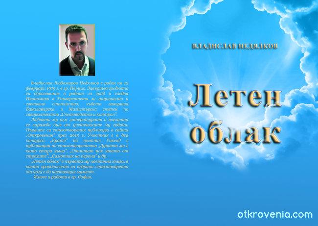Корица Летен облак - Владислав Недялков