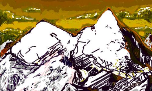Планина от пиксели