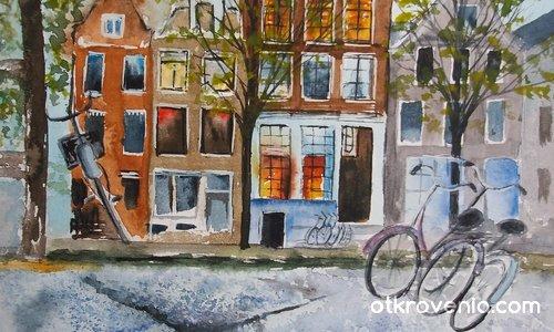 Амстердам през пролетта