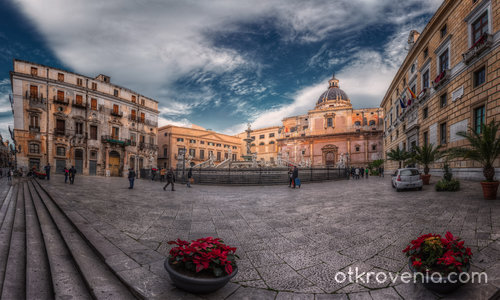 Piazza Pretoria и Fontana Pretoria, Palermo