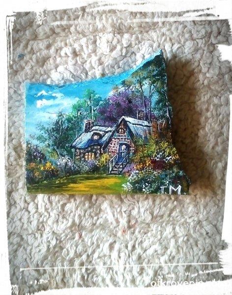 """Рисувани камъчета с акрил """"Моята приказка"""""""