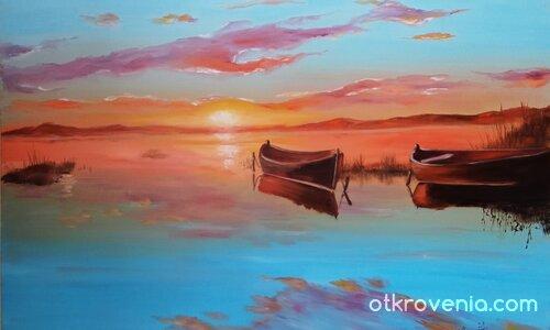 Залез и лодки