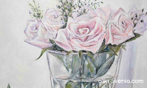 чаша с рози