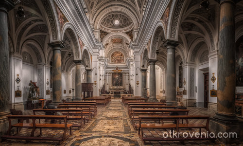 Chiesa San Martino - the nave (Erice, Sicily)