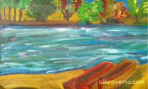 Пейзажче с лодки (старо)