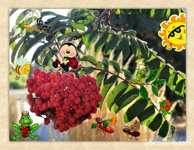 Есен под калиновия храст