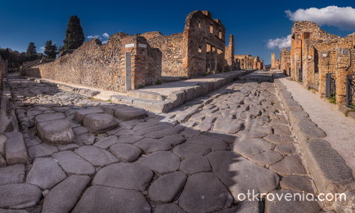 По улиците на Помпей