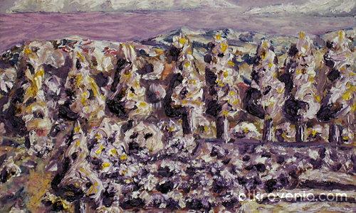 Лавандулово поле в планината